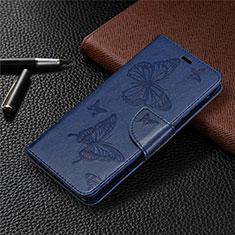 Custodia Portafoglio In Pelle Cover con Supporto L04 per Sony Xperia L4 Blu