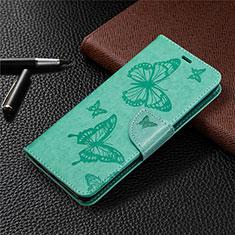 Custodia Portafoglio In Pelle Cover con Supporto L04 per Sony Xperia L4 Verde