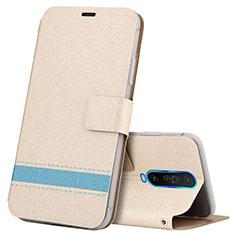 Custodia Portafoglio In Pelle Cover con Supporto L04 per Xiaomi Redmi K30 5G Oro