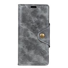 Custodia Portafoglio In Pelle Cover con Supporto L05 per Asus Zenfone 5 ZS620KL Grigio