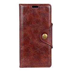 Custodia Portafoglio In Pelle Cover con Supporto L05 per Asus Zenfone 5 ZS620KL Marrone