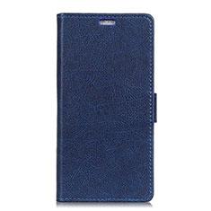 Custodia Portafoglio In Pelle Cover con Supporto L05 per Asus Zenfone Max Plus M1 ZB570TL Blu