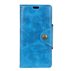 Custodia Portafoglio In Pelle Cover con Supporto L05 per Asus Zenfone Max Pro M1 ZB601KL Blu