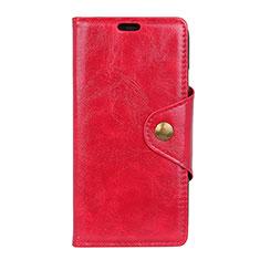 Custodia Portafoglio In Pelle Cover con Supporto L05 per Asus Zenfone Max Pro M1 ZB601KL Rosso