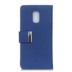 Custodia Portafoglio In Pelle Cover con Supporto L05 per Asus ZenFone V Live Blu
