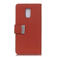 Custodia Portafoglio In Pelle Cover con Supporto L05 per Asus ZenFone V Live Rosso Rosa