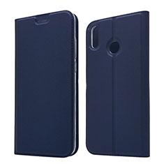 Custodia Portafoglio In Pelle Cover con Supporto L05 per Huawei Honor 8X Blu