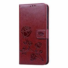 Custodia Portafoglio In Pelle Cover con Supporto L05 per Huawei Honor 9A Marrone
