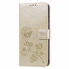Custodia Portafoglio In Pelle Cover con Supporto L05 per Huawei Honor 9A Oro
