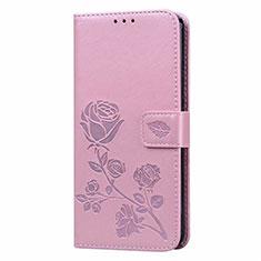 Custodia Portafoglio In Pelle Cover con Supporto L05 per Huawei Honor 9A Rosa