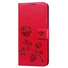 Custodia Portafoglio In Pelle Cover con Supporto L05 per Huawei Honor 9A Rosso