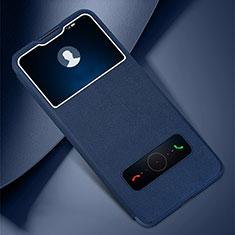 Custodia Portafoglio In Pelle Cover con Supporto L05 per Huawei Honor Play4 Pro 5G Blu