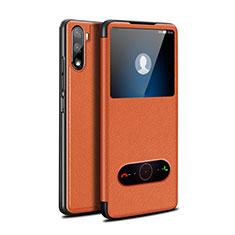 Custodia Portafoglio In Pelle Cover con Supporto L05 per Huawei Mate 40 Lite 5G Arancione