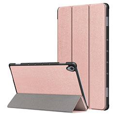 Custodia Portafoglio In Pelle Cover con Supporto L05 per Huawei MatePad 10.8 Oro Rosa