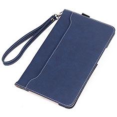 Custodia Portafoglio In Pelle Cover con Supporto L05 per Huawei MatePad Blu