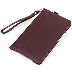 Custodia Portafoglio In Pelle Cover con Supporto L05 per Huawei MatePad Marrone