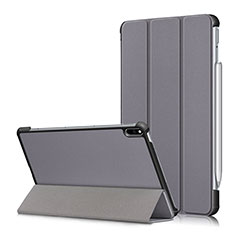 Custodia Portafoglio In Pelle Cover con Supporto L05 per Huawei MatePad Pro Grigio
