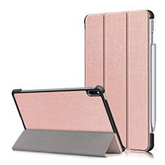 Custodia Portafoglio In Pelle Cover con Supporto L05 per Huawei MatePad Pro Oro Rosa