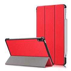 Custodia Portafoglio In Pelle Cover con Supporto L05 per Huawei MatePad Pro Rosso