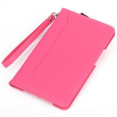 Custodia Portafoglio In Pelle Cover con Supporto L05 per Huawei MatePad Rosa Caldo