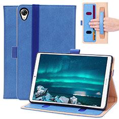 Custodia Portafoglio In Pelle Cover con Supporto L05 per Huawei MediaPad M6 8.4 Blu