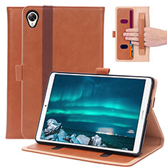 Custodia Portafoglio In Pelle Cover con Supporto L05 per Huawei MediaPad M6 8.4 Marrone