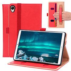 Custodia Portafoglio In Pelle Cover con Supporto L05 per Huawei MediaPad M6 8.4 Rosso