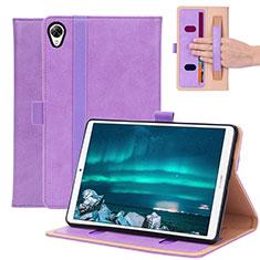Custodia Portafoglio In Pelle Cover con Supporto L05 per Huawei MediaPad M6 8.4 Viola