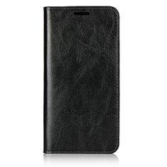 Custodia Portafoglio In Pelle Cover con Supporto L05 per Huawei P20 Nero