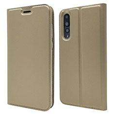 Custodia Portafoglio In Pelle Cover con Supporto L05 per Huawei P20 Pro Oro