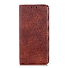 Custodia Portafoglio In Pelle Cover con Supporto L05 per Huawei Y6p Marrone