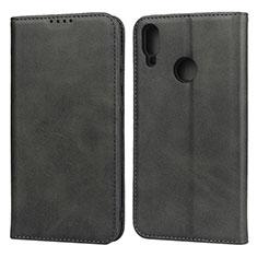 Custodia Portafoglio In Pelle Cover con Supporto L05 per Huawei Y7 (2019) Nero