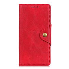 Custodia Portafoglio In Pelle Cover con Supporto L05 per Motorola Moto G8 Power Lite Rosso