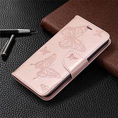Custodia Portafoglio In Pelle Cover con Supporto L05 per Nokia 1.3 Oro Rosa
