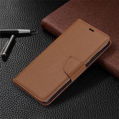 Custodia Portafoglio In Pelle Cover con Supporto L05 per Nokia 5.3 Marrone