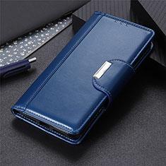 Custodia Portafoglio In Pelle Cover con Supporto L05 per Oppo A8 Blu