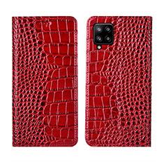 Custodia Portafoglio In Pelle Cover con Supporto L05 per Samsung Galaxy A42 5G Rosso