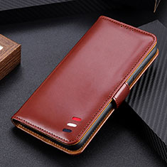 Custodia Portafoglio In Pelle Cover con Supporto L05 per Samsung Galaxy M51 Marrone