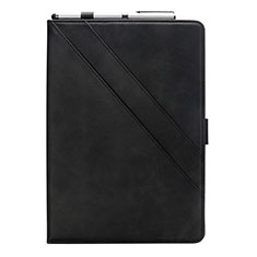 Custodia Portafoglio In Pelle Cover con Supporto L05 per Samsung Galaxy Tab S6 Lite 10.4 SM-P610 Nero