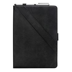 Custodia Portafoglio In Pelle Cover con Supporto L05 per Samsung Galaxy Tab S6 Lite 4G 10.4 SM-P615 Nero
