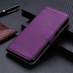 Custodia Portafoglio In Pelle Cover con Supporto L05 per Sharp AQUOS Sense4 Plus Viola