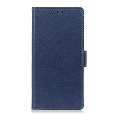 Custodia Portafoglio In Pelle Cover con Supporto L05 per Sony Xperia 8 Blu