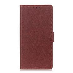 Custodia Portafoglio In Pelle Cover con Supporto L05 per Sony Xperia 8 Lite Marrone