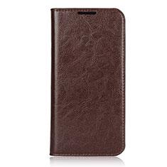 Custodia Portafoglio In Pelle Cover con Supporto L05 per Xiaomi Redmi Note 7 Pro Marrone