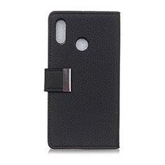 Custodia Portafoglio In Pelle Cover con Supporto L06 per Asus Zenfone 5 ZE620KL Nero