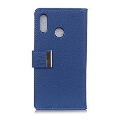Custodia Portafoglio In Pelle Cover con Supporto L06 per Asus Zenfone 5 ZS620KL Blu
