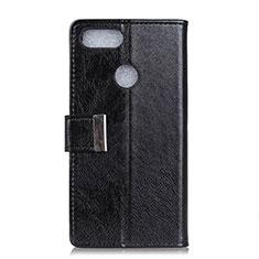 Custodia Portafoglio In Pelle Cover con Supporto L06 per Asus Zenfone Max Plus M1 ZB570TL Nero