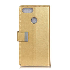 Custodia Portafoglio In Pelle Cover con Supporto L06 per Asus Zenfone Max Plus M1 ZB570TL Oro