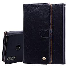 Custodia Portafoglio In Pelle Cover con Supporto L06 per Huawei Honor 8X Nero