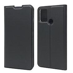 Custodia Portafoglio In Pelle Cover con Supporto L06 per Huawei Honor 9A Nero